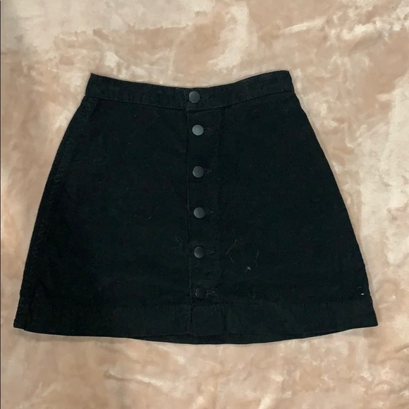 American Apparel Dresses & Skirts - Black mini button front skirt